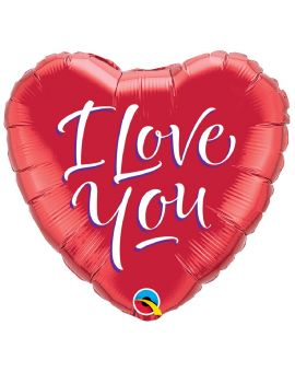 Folie ballon - hart I love you 45 cm