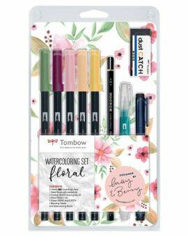 Tombow watercoloring set- Floral
