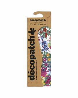 Decopatch 3 vel- Watercolour bloemen