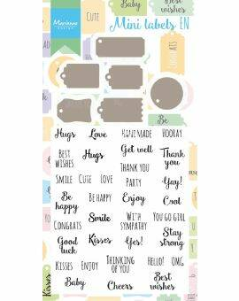 Stamp & Die set- Mini labels EN