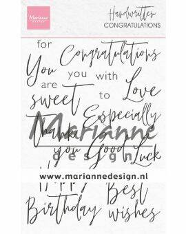 Clear Stamps Handwritten - Congratulations