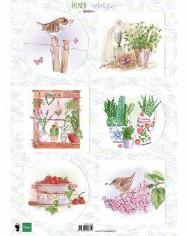 Decoupage French antiques herbs